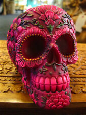SUGAR BLOSSOM SKULL ASHTRAY FIGURE Ornament MEXICAN Day of the Dead GOTHIC PAGAN