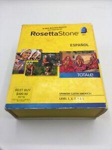 Rosetta Stone Spanish Espanol  Totale Level 1-5 Version 4 (2010) incl. code