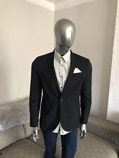 Mens Black Smart Slim Fit Single  Button  Blazer 42r