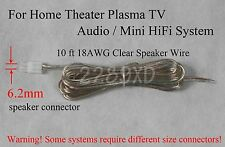 10ft 6.2mm speaker cable/wire made for select Sony Samsung Lg Philips Receiver