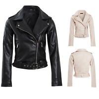 Shelikes Womens Ladies Patent Biker Smart PVC PU Ladies Jacket Size 8 to 16