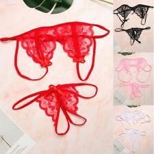 Women Sexy Lingerie Nightwear Sleepwear Babydoll Lace Bra G-string Underwear Set