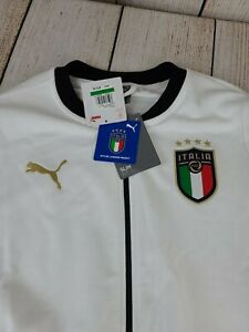 New Italy FIGC Puma Soccer Jacket Large Euro 2020 Champions 757225 02