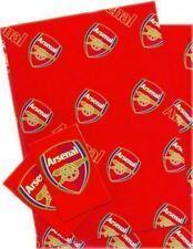 ARSENAL FC GIFT WRAP  PAPER 2 SHEETS & TAGS NEW