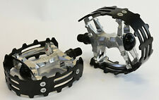 "Old School BMX Beartrap Pedals Black - 1/2"" for 1 piece cranks"