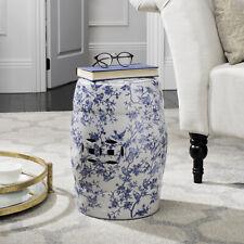 Safavieh Decorative Garden Stool Seat Table Indoor Outdoor Accent White Ceramic