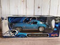 Maisto 1965 Chevy Corvette Coupe 1:18 Scale Diecast Model Car '65 Chevrolet Blue