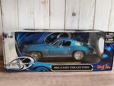 Maisto 1965 Chevy Corvette Coupe 1:18 Scale Diecast Model Car '65 Chevrolet Blue