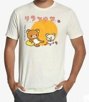 Rilakkuma And Korilakkuma Eat Strawberries T-Shirt NWT 100% Authentic & Licensed