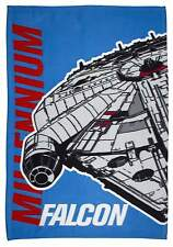 STAR WARS EPISODE 7 AWAKEN FLEECE BLANKET MILLENNIUM FALCON DESIGN THROW SNUGGLE