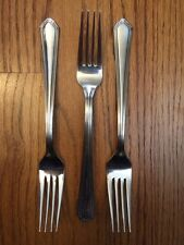 """Lenox 18/10 Stainless Glossy ARCHWAY Scalloped Tip 3 DINNER FORKS 8 3/8"""""""