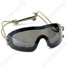 Swiss Eye 'Infantry' Goggles - Black - Safety Glasses Airsoft Army Military New
