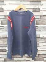 VTG RETRO TOMMY HILFIGER DENIM ATHLETIC SPORTS OVERHEAD SWEATSHIRT JUMPER UK S
