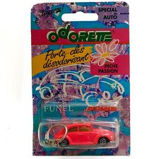 VW Beetle Kafer 1302 203 Pink Majorette Odorette Keychain with Car Perfume