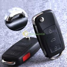 3 Button Car Remote Flip Key Shell Case for VW Golf 4 5 6 Passat B5 B6 Polo Bora