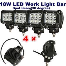 "4x 18W 4"" LED Work Light Bar Spot Beam Offroad 4WD UTE SUV Fog Driving Lamp"