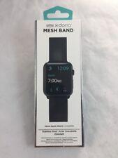 NEW X-Doria 42mm Apple Watch Compatible Black Mesh Band Metal Loop Mens Ladies