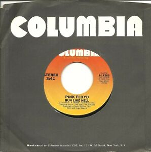 """Pink Floyd-Run Like Hell/Don't Leave me Now-45 RPM-7""""-single-rock-vinyl-record"""