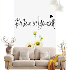 AU_ BL_ Believe in Yourself Wall Art Decal Mural Sticker Study Room Bedroom Deco