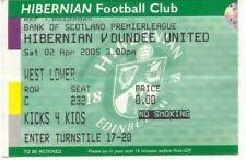 Ticket - Hibernian v Dundee United 02.04.2005