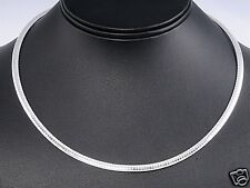 Italian Omega Chain Necklace Sterling Silver 925 Jewelry Gift 4mm x 18inches