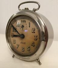 Antique vintage french alarm clock JAZ 1940s working order DECORATION DECO RARE