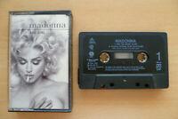 📼 Madonna BAD GIRL/EROTICA 👉 UK 1993 Cassette Single (W0154C) RARE!