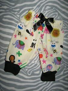 Animals Baby trousers Girls Cream Pink farm Leggings Shower Gift Party Retro UK