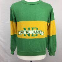 VTG 1970s Nutmeg Mills Notre Dame Fighting Irish Mens Green Sweatshirt sz M 80s