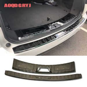 For Jaguar E-PACE 2018-2019 Black titanium Rear Bumper Protector Sill Trunk Trim