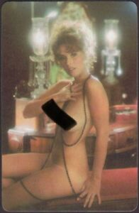 Playing Cards Single Card Old Vintage * 1970s PLAYBOY PIN-UP GIRL  Art Picture D