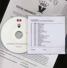 TOTAL MADNESS - PROMO CD - 23 TRACK BEST OF + 2 SIDED PRESS SHEET - TWO 2 TONE
