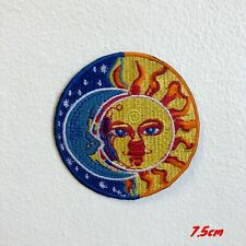 Blue Moon and Yellow Sun Eclipse Valentino ROSI Iron on Embroidered Patch #1832