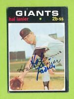 1971 Topps Autograph - Hal Lanier (#181)  San Francisco Giants