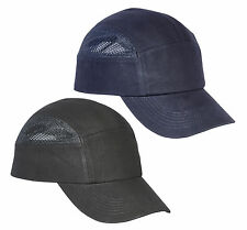 Spire Protective Vented Cool Safety Baseball Bump Cap Hard Hat Navy or Black