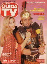rivista NUOVA GUIDA TV ANNO 1991 NUMERO 50 MOANA POZZI E ANDREA RONCATO