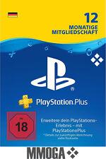 PlayStation PSN Plus 365 Tage 12 Monate 1 Jahr Mitgliedschaft Code PS3 PS4 - DE*
