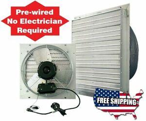 12 16 20 24 inch Exhaust Fan Shutter Wall HVAC Attic Fans Garage Barn Ventilator