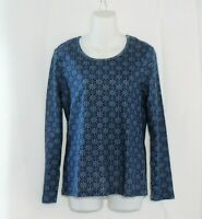 Time and Tru Shirt Size Small 4-6 New Blue Print