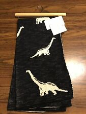 Frolics Kids Collection Cotton Throw Blanket Navy With White Dinosaurs NWT