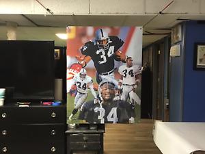 BIG 43x32 Bo Jackson POSTER vinyl Banner Oakland Raiders Art. Josh Jacobs vegas