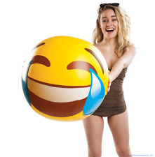 """BigMouth - Giant 20"""" EMOJI Smiley Face Tears of Joy Inflatable Beach Pool Ball"""