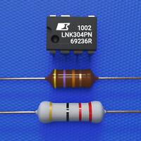 LNK304PN + Widerstand 22 Ohm 3W + HF Drossel 470µH Whirlpool, AEG, Bauknecht etc