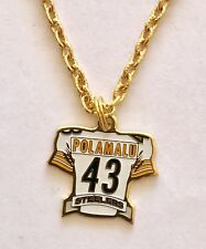 Pittsburgh Steelers Troy Polamalu Jersey Petite Necklace NFL Licensed Jewelry