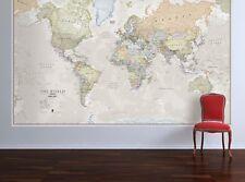 World Map Vintage Elegant Home Office Decor Bedroom Living Room Wall Hanging Art