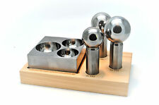 4 Pc Extra Large Doming Dapping 40, 45, 50mm  Punches & Steel Block Set J1476