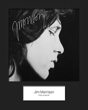JIM MORRISON #3 (The Doors) Signed 10x8 Mounted Photo Print - FREE DELIVERY