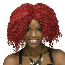 Red Crimped Rock Star Costume Wig