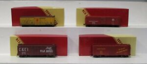 Red Caboose HO Gauge Assorted Freight Car Assembled Kits (4)/Box