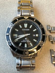 Citizen Eco-Drive Promaster 200m Diver Watch 44mm BN0190-82 Bracelet and Strap